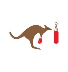 Flat icon on white background kangaroo boxer vector