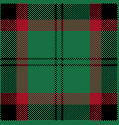 Green and red tartan plaid seamless pattern vector