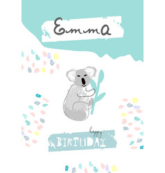 hand drawn abstract pastel baby shower card vector image