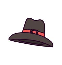 happy thanksgiving day pilgrim hat accessory vector image