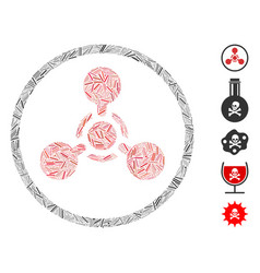 Hatch wmd nerve agent chemical warfare icon vector