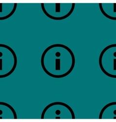 info web icon flat design Seamless pattern vector image