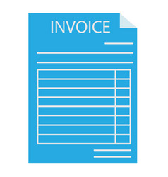 invoice icon on white background invoice sign vector image