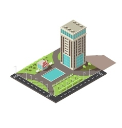 Isometric Office Building Design vector image