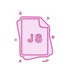 Js file type icon design vector