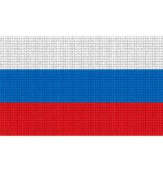 knitted Russian flag vector image