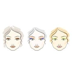 Make up scheme vector image