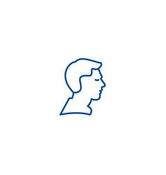 man profile line icon concept man profile flat vector image