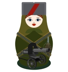 Matryoshka with a machine gun Maxim vector