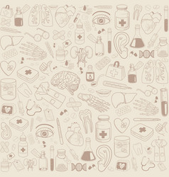 medicine icons pattern vector image