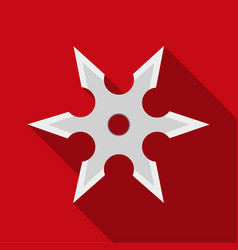 metal shuriken icon flate single weapon icon from vector image