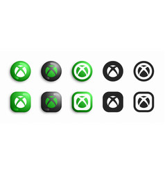 microsoft xbox video game console modern 3d vector image