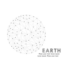 networks - globe design earth polygonal eps 10 vector image