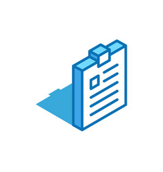 notepad isometric icon tablet exercise book vector image