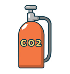 Paintball co2 canister icon cartoon style vector