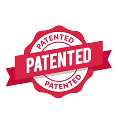 patented seal modern red stamp design vector image