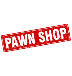 Pawn shop square stamp vector