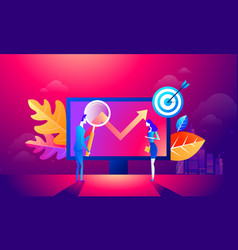 people team work together on seo can use for web vector image