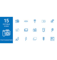 photographer icons vector image
