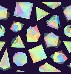 polygonal color glass transparent shapes vector image vector image