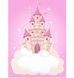 princess fairytail castle vector image vector image