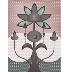 Psychedelic flower tree vector