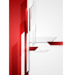 Red tech corporate background vector image