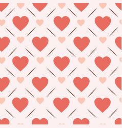 Retro hearts seamless pattern design vinatge vector