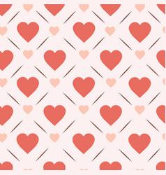 retro hearts seamless pattern design vintage vector image
