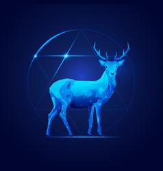 sci-fi deer vector image