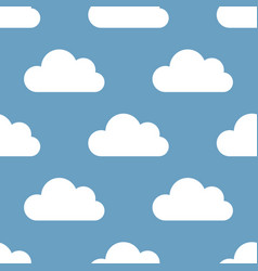 Seamless background clouds vector