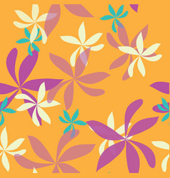 seamless repeat pattern with whimsical flowers vector image