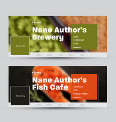 set banners standard size for social vector image