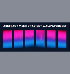 set colorful gradient wallpapers backgrounds vector image