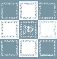 set of xmas greeting frames vector image
