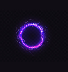 shining circle of purple lighting sparkle vector image
