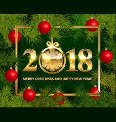 shiny background with christmas decorations vector image