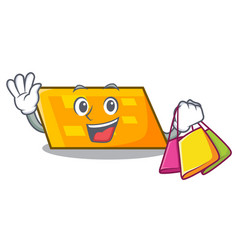 Shopping parallelogram character cartoon style vector