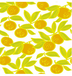simple naive sketch mandarin seamless pattern vector image