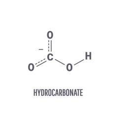 skeletal formula hydrocarbonate molecule vector image