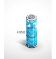 skyscraper background vector image