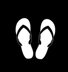 slippers icon isolated on black background vector image
