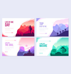 sport rest day brochure cards set touris vector image