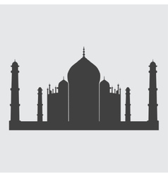 Taj Mahal icon vector