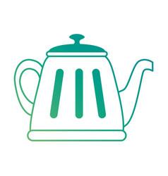 teapot elegant isolated icon vector image