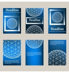 Trendy Mesh polygonal design style letterhead and vector