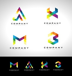 Triangle Letter Logo Design vector image