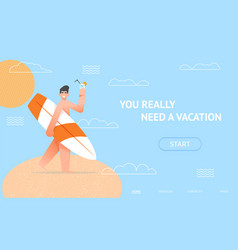 vacation landing concept vector image