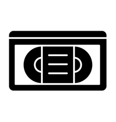 Videotape solid icon vhs tape vector