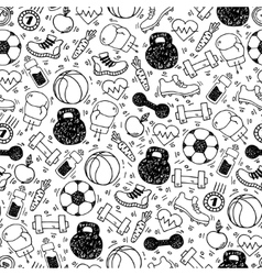 Sport white and black seamless pattern vector image vector image